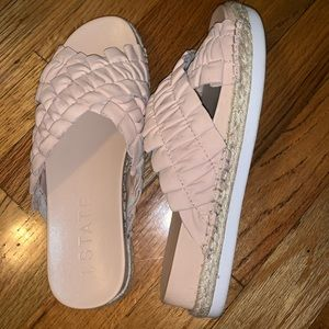 1.state baby pink lifted sandal
